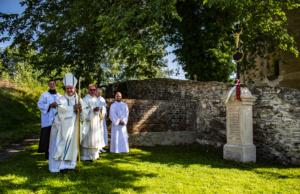Žehnání křížku u kostela v HŘ, 14, 8. 2021